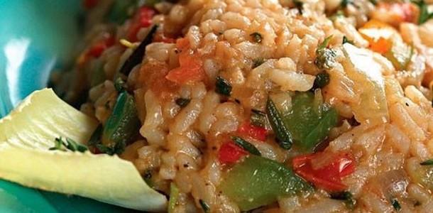 receita risoto vegetariano