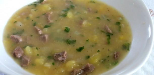 receita sopa de mandioca com carne