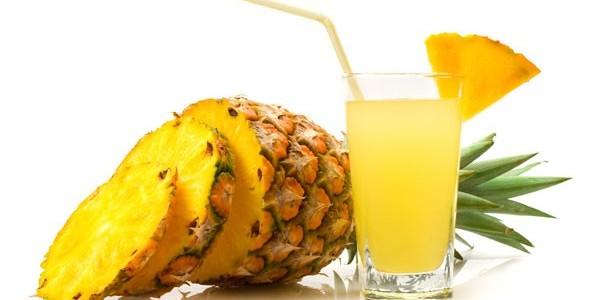 receita suco detox de abacaxi