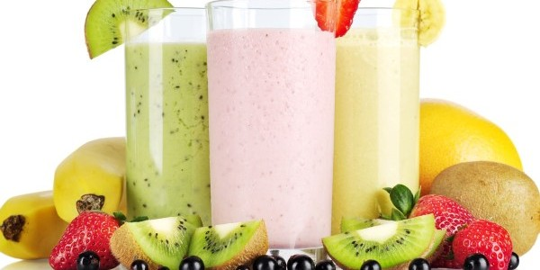 receita vitamina de frutas light