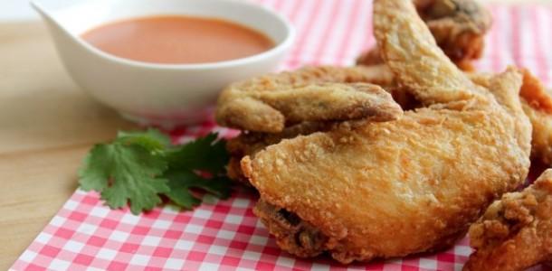 receita asas de frango frito