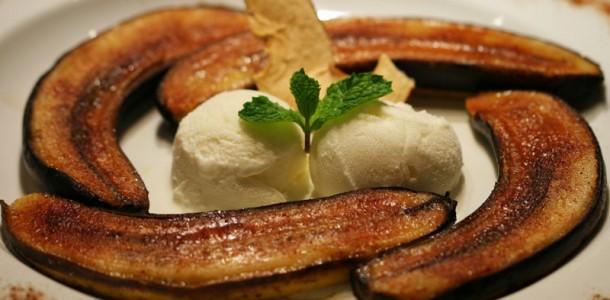receita banana assada