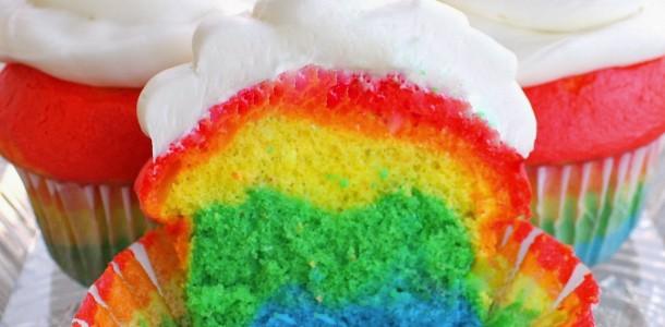 receita cupcake colorido