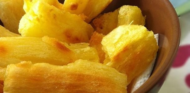 receita mandioca frita de forno