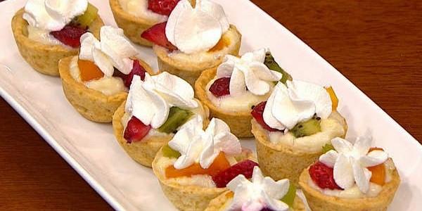 receita mini tortinha de frutas