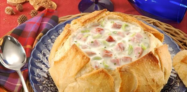 receita pão italiano para sopa creme de milho