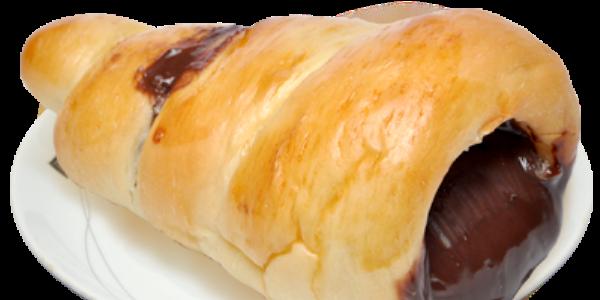 receita pão recheado com chocolate