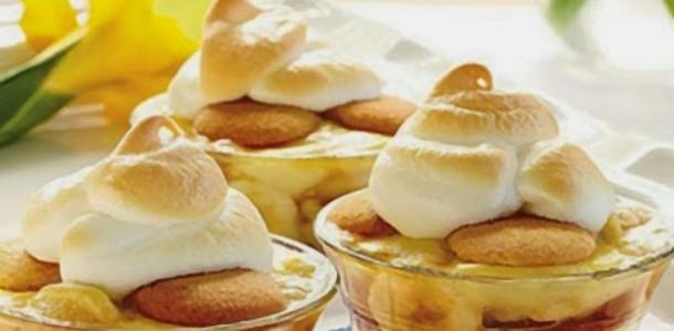 receita pavê caramelizado de banana