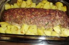 receita rocambole de carne recheado