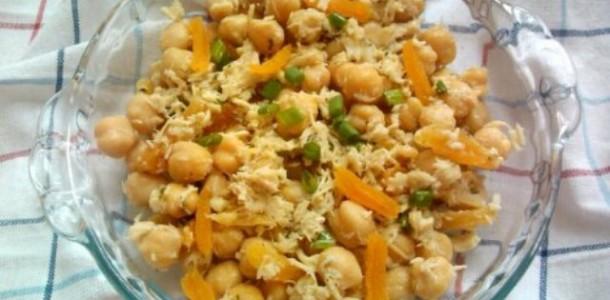 receita salada de grão de bico