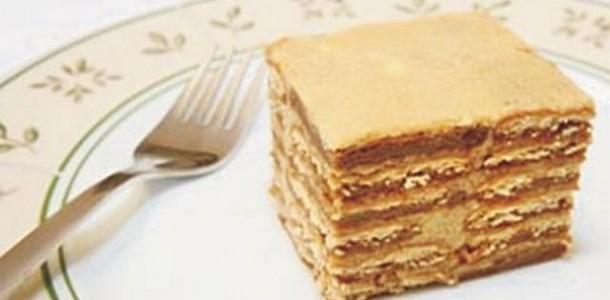 Receita Torta de Bolacha Maria