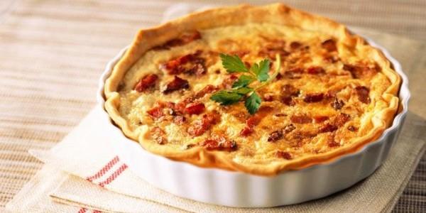 receita quiche de bacon com queijo