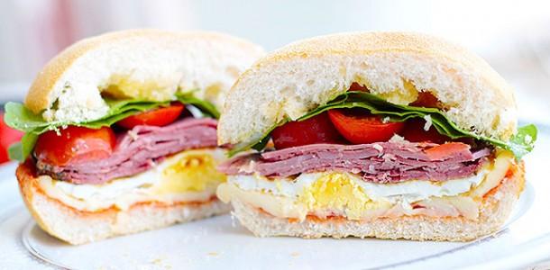receita sanduíche de presunto