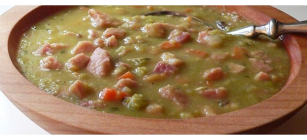 receita sopa de ervilha com bacon
