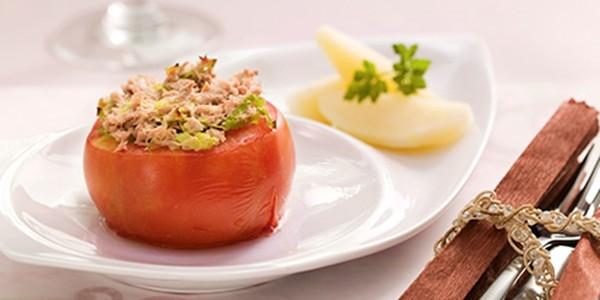 receita tomate recheado com atum