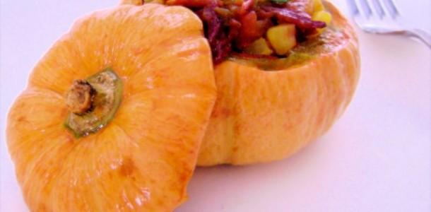 receita abóbora recheada com carne de sol