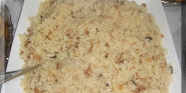 receita arroz com champanhe de natal