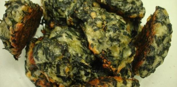 receita bolinho de espinafre