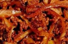 Receita Carne Moída Acebolada