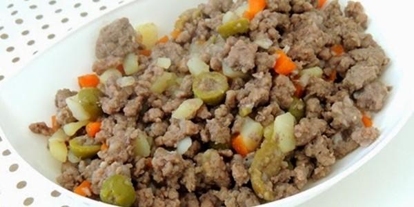 receita carne moída com batata