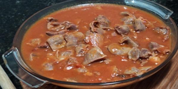 receita moela de frango ao molho
