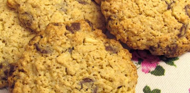 Receita Cookies de Chocolate com Aveia