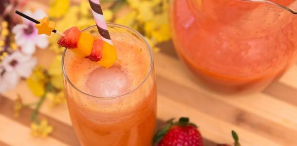 receita drink de morango com manga