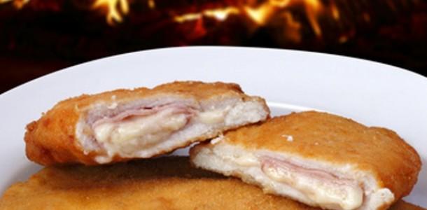 receita frango empanado recheado