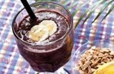 receita milkshake de açaí com banana