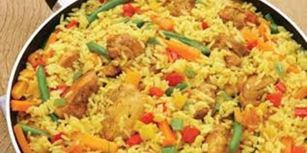 receita paella de frango