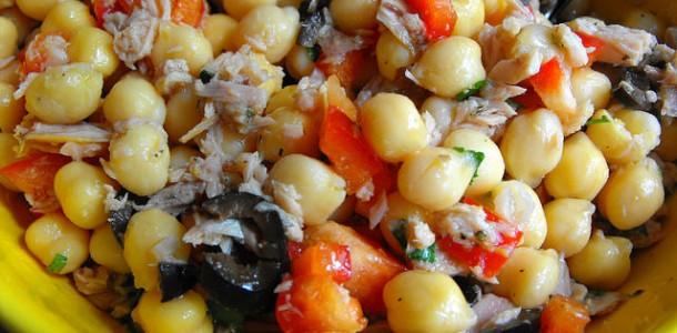 Receita Salada de Grão de Bico Fácil