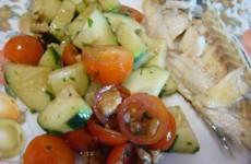 receita salada de tomate cereja com pepino