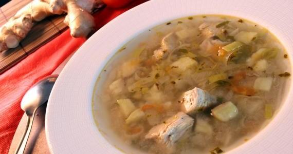 Receita Sopa Frango com Batata