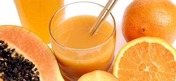 receita suco detox de laranja com mamão