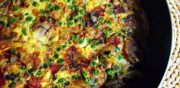 Receita Tortilha de Legumes com Carne