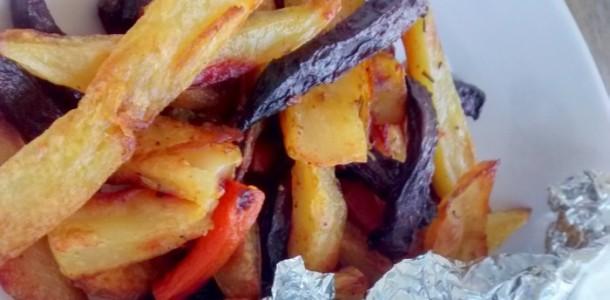 Receita Batatas com Vegetais Assados