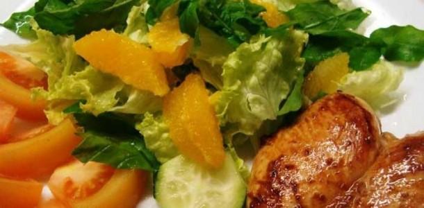 Receita Frango com Salada