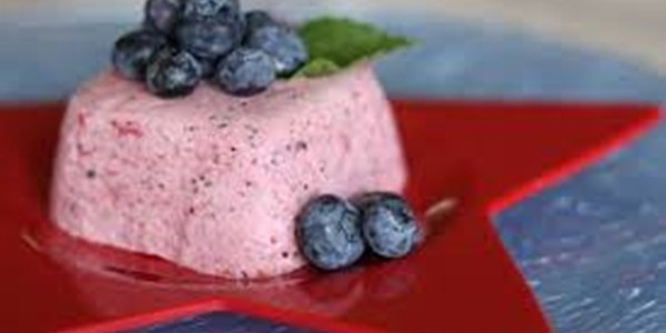 receita mousse de blueberry light