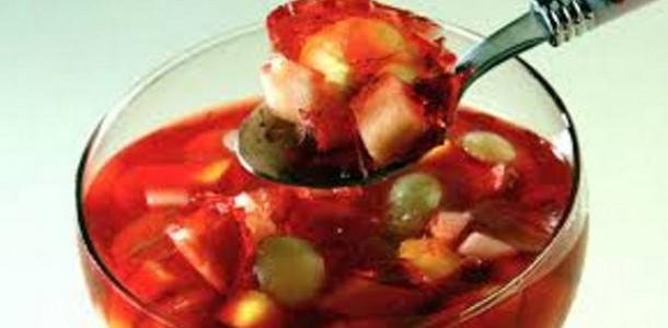 Receita Salada de Frutas Com Gelatina