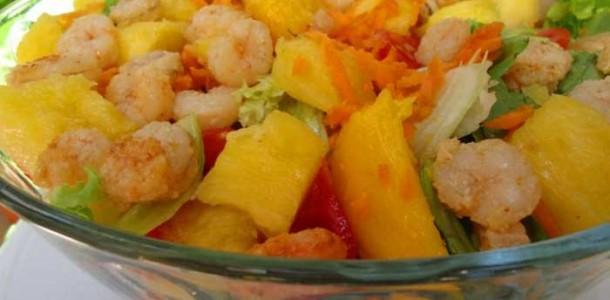Receita Salada de Verão com Camarão