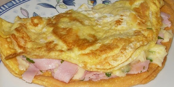 Omelete de Presunto e Queijo