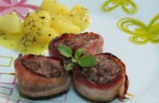 Receita Medalhão de Bacon com Carne Moida