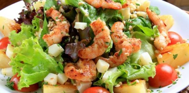 Receita Salada de Camarão