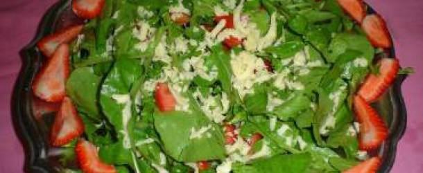 Receita Salada de Rúcula com Morango