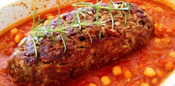 Bolo de Carne com Bacon