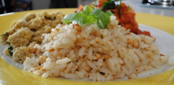 Arroz com castanha-do-pará