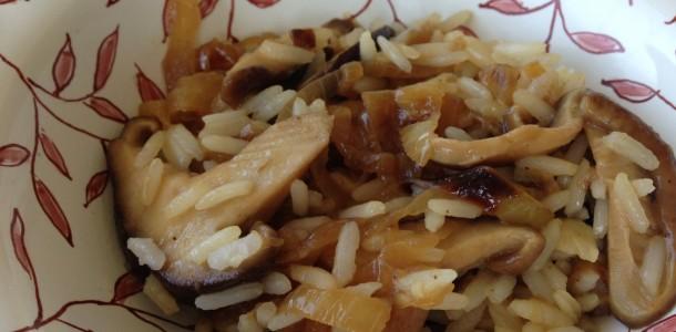 arroz com shitake