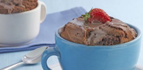 bolo de chocolate da caneca