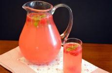 limonada de framboesa
