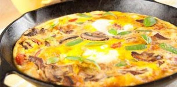 omelete de cogumelo